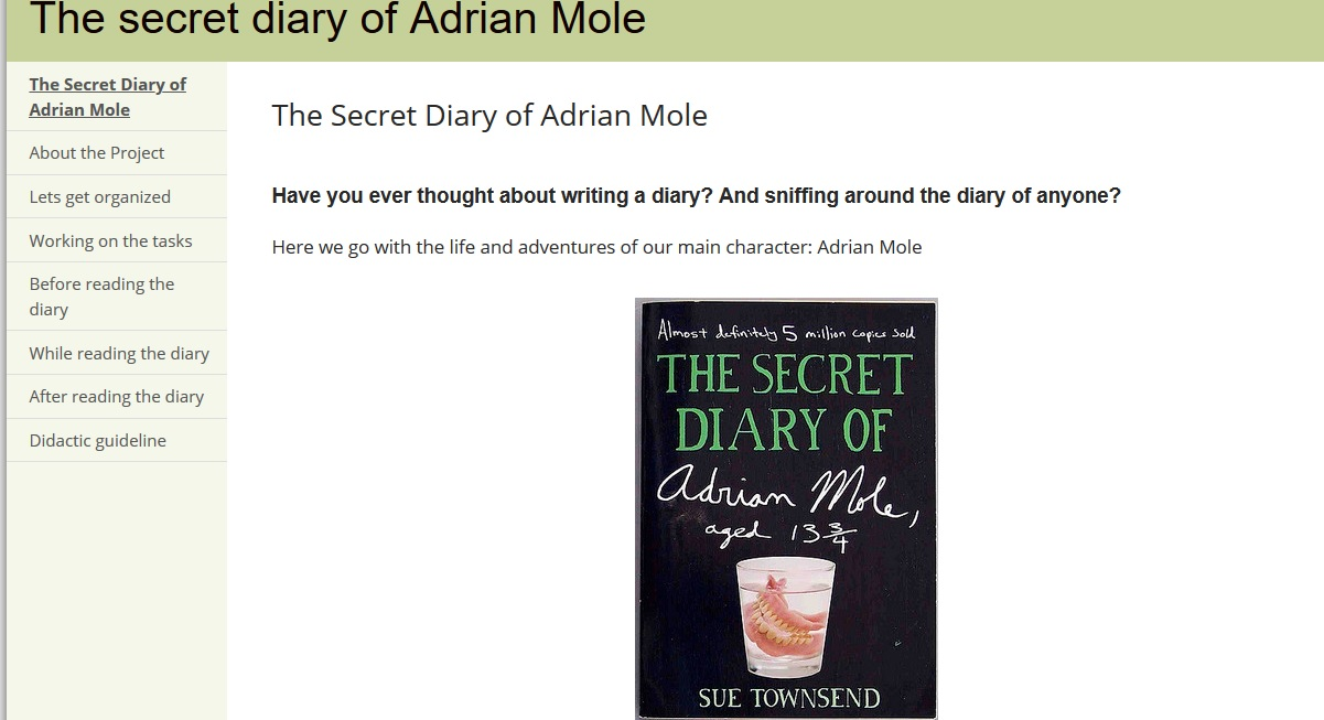 Captura REA The secret diary of Adrian Mole